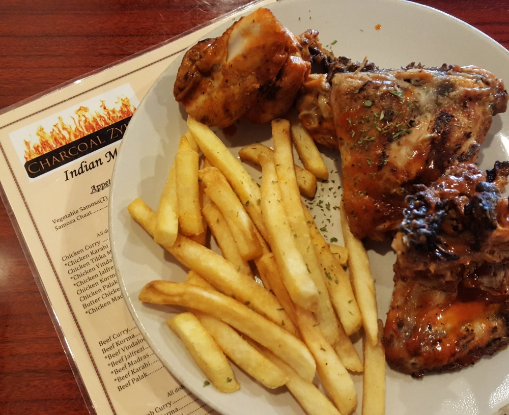 Charcoal Zyka Chicken and Fries