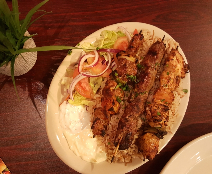 Kabab Combination Platter from Jerusalem Restaurant