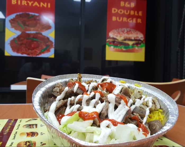 B & B Express Halal Cart Food