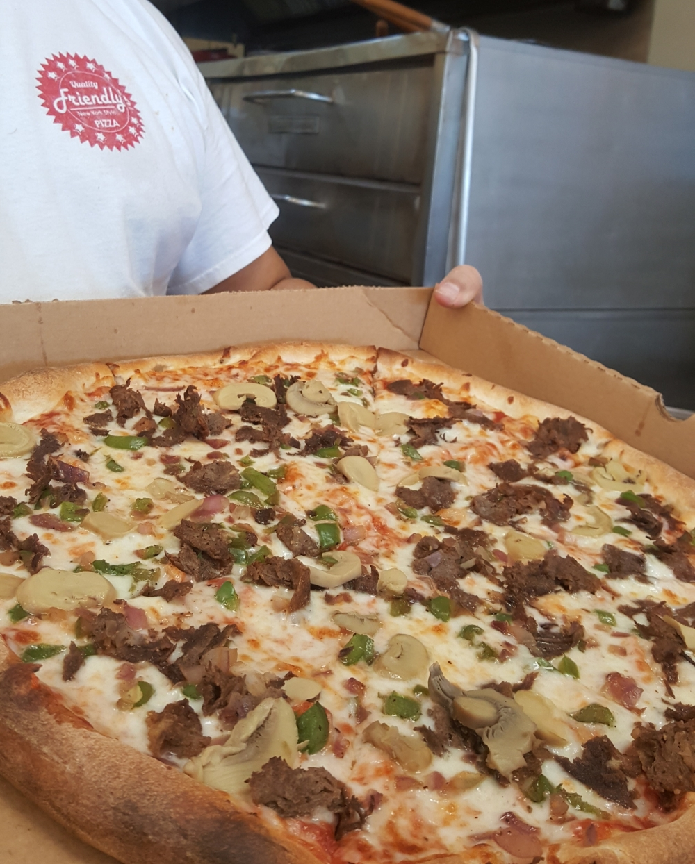 Gyro Philly Cheese Steak Pizza