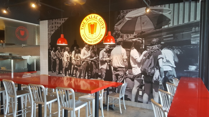 Mural of the lines for The Halal Guys