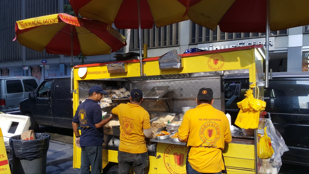 The Halal Guys Street Cart in New York